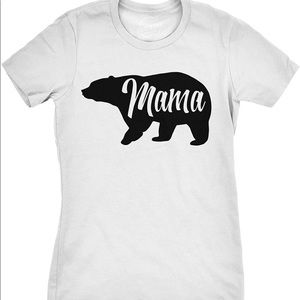 Womens Mama Bear White T-Shirt NEW WITH TAG